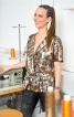 Блузка з короткими рукавами кімоно - фото 1