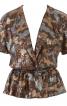 Блузка з короткими рукавами кімоно - фото 2