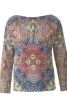 Блузка з суцільнокроєними рукавами - фото 2