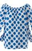 Блузка з вирізом кармен - фото 2