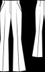 Брюки-кльош без пояса - фото 3