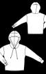 Анорак атласный с капюшоном - фото 3
