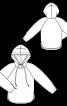 Анорак с рукавами реглан и капюшоном - фото 3