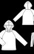Анорак з рукавами реглан і капюшоном - фото 3