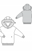 Пуловер із капюшоном з хутряною облямівкою - фото 3