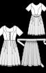 Сукня приталеного крою з фартухом - фото 3
