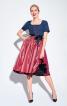 Сукня приталеного крою з фартухом - фото 1