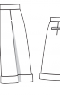 Бермуди із застроченими складками - фото 3