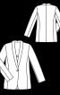 Блейзер приталеного крою з шалевим коміром - фото 3