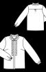 Блуза сорочкового крою з оборками - фото 3