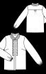 Блуза-сорочка прямого крою з оборками - фото 3