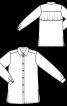 Блуза-рубашка с широким воланом на спинке - фото 3