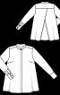 Блуза А-силуэта рубашечного кроя - фото 3