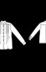 Блуза-сорочка з коміром-стойкою - фото 3