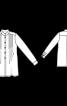 Блуза-сорочка зі складками і коміром-стойкою - фото 3