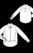 Блузка-рубашка с асимметричной линией низа - фото 3