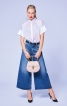 Блуза з коміром-стойкою у східному стилі - фото 1