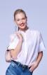 Блуза з коміром-стойкою у східному стилі - фото 5