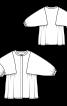 Блуза сорочкового крою з оригінальними проймами - фото 3