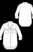 Рубашка с округленной линией низа - фото 3