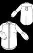 Блузка з оборками і пишними рукавами - фото 3