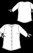 Блуза-сорочка без коміра і з зав'язками на рукавах - фото 3