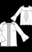 Блузка з воланами на рукавах - фото 3