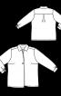 Блуза-сорочка зі складкою біля горловини - фото 3