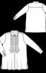Блуза сорочкового крою з потайною застібкою - фото 3