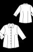 Блуза-рубашка c рукавами 3/4 - фото 3