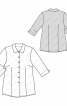 Блуза-сорочка з укороченими рукавами - фото 3