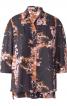Блузка сорочкового крою із видовженою спинкою - фото 2
