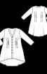 Блуза розкльошеного силуету з асиметричним низом - фото 3