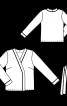 Блузка в стилі кімоно з поясом - фото 3