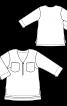 Блуза А-силуету з видовженою спинкою - фото 3