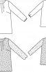 Туніка мереживна розкльошеного силуету - фото 3