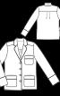 Блуза простора в піжамному стилі - фото 3