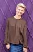 Блуза прямого крою з асиметричною застібкою - фото 1