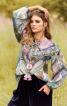 Блуза вільного крою з пишними рукавами - фото 1