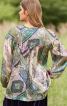 Блуза вільного крою з пишними рукавами - фото 4