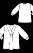 Блуза шифонова з ефектом запаху - фото 3