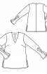 Блуза шовкова з V-подібним вирізом - фото 3