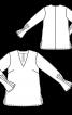 Блуза просторого крою зі складками на рукавах - фото 3