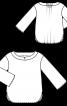 Блуза прямого крою з приспущеними проймами - фото 3