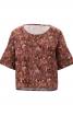 Блуза просторого крою з короткими рукавами - фото 2