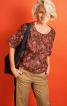 Блуза просторого крою з короткими рукавами - фото 1