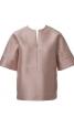 Блуза прямого крою з рельєфними швами - фото 2