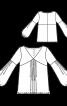 Блузка зі складками на переді і рукавах - фото 3