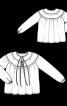 Блуза широкого кроя с круглой кокеткой - фото 3