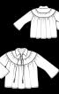 Блуза широкого крою з відкладним коміром - фото 3